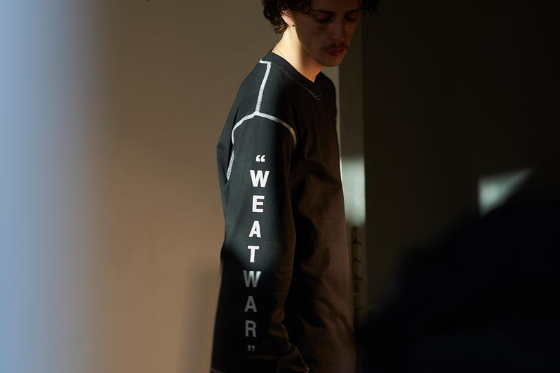 united-standard off white virgil abloh fall winter 2018 capsule collab collaboration info details release date collection t shirts tee tees long sleeve graphic black fw18