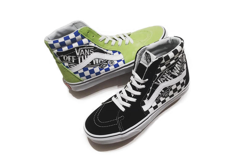 7f6bc3636b vans sk8 hi authentic off the wall otw repeat big oversized patch yellow  blue black white
