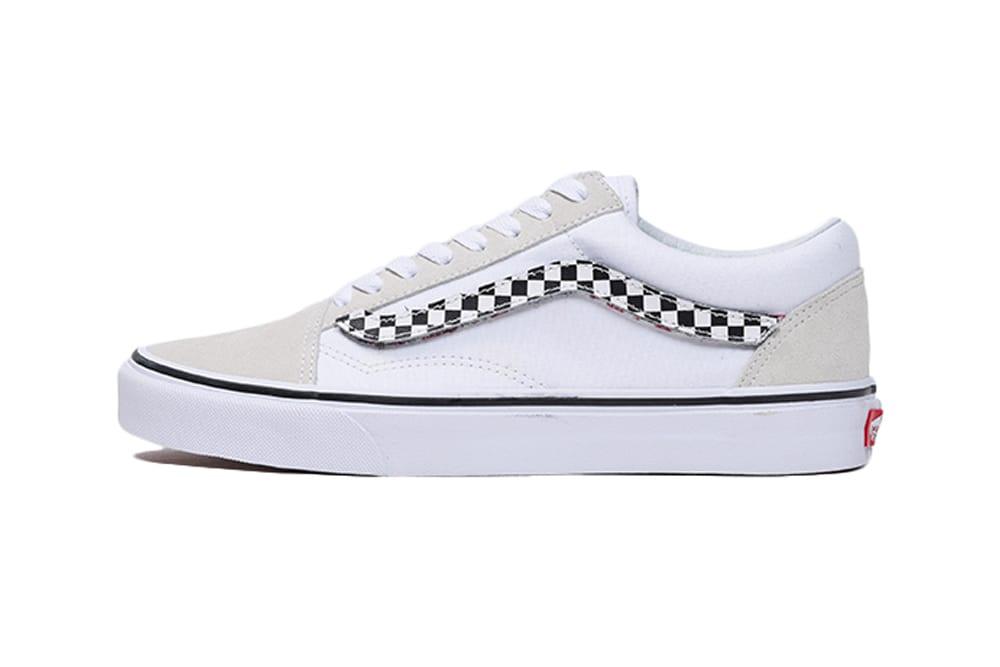 black and white striped vans