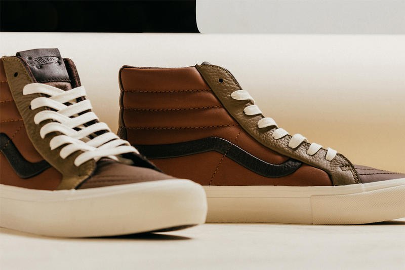 Vans Vault Premium Leather Multi Brown Pack authentic sk8-hi release info