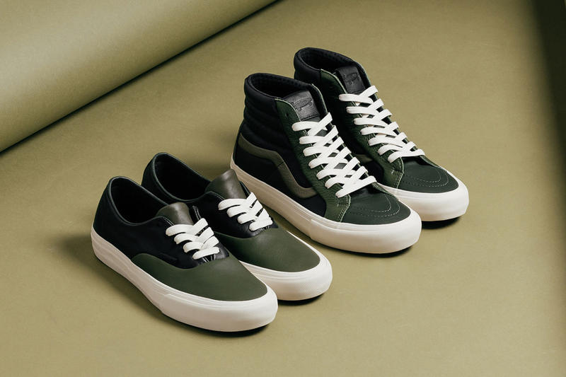20bb2ab16b Featuring plush leather uppers. vans vault multi green pack vans authentic vans  sk8 hi ...