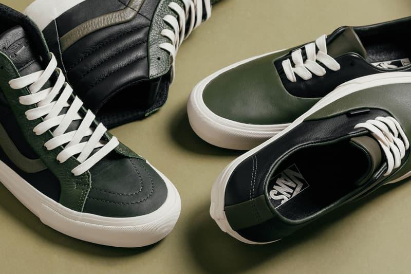 vans vault multi green pack vans authentic vans sk8 hi footwear 2018 october