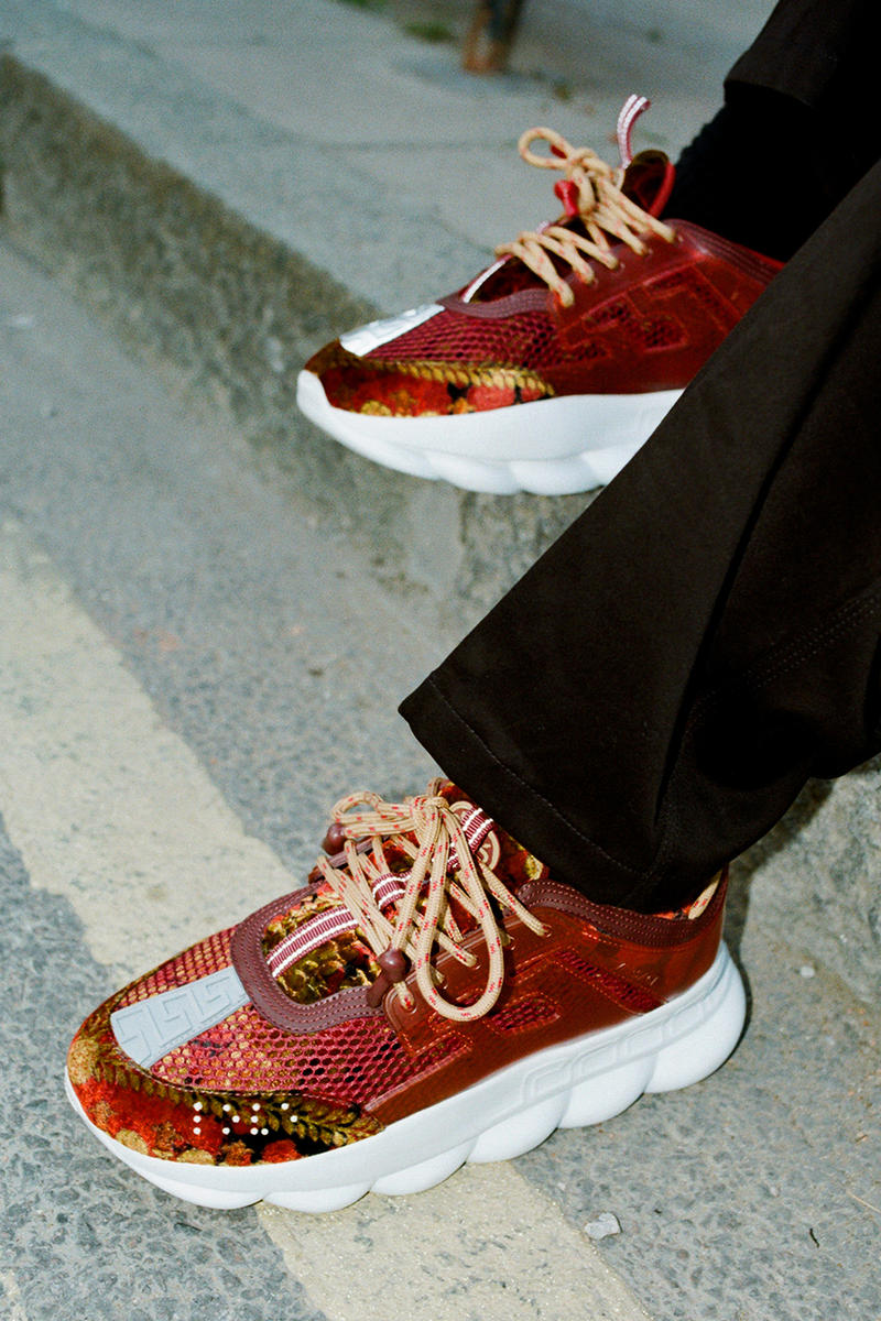 Versace Chain Reaction Sneaker Fall/Winter 2018 Collection Editorial London - NEEDS MORE KEYWORDS