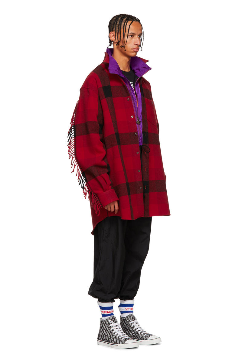 Vetements Fall Winter 2018 Red Flannel Western Shirt release info demna gvasalia