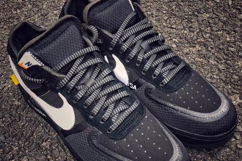 Virgil Abloh Nike Air Force 1 Black First Look White Release Date Info