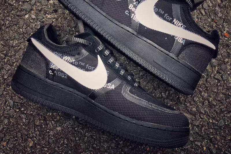 fdf76bc9bfb2 Virgil Abloh Nike Air Force 1 Black First Look White Release Date Info