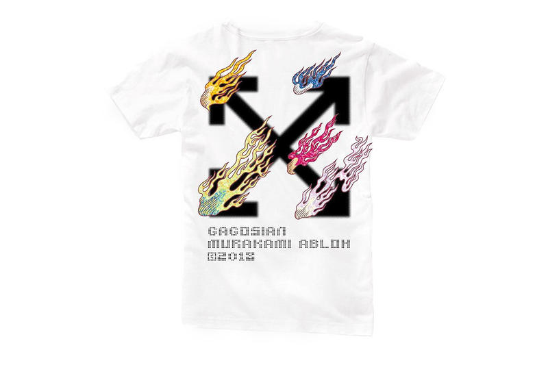 Virgil Abloh Takashi Murakami AMERICA TOO Shirts exhibit Gagosian Beverly Hills exclusive limited edition release info