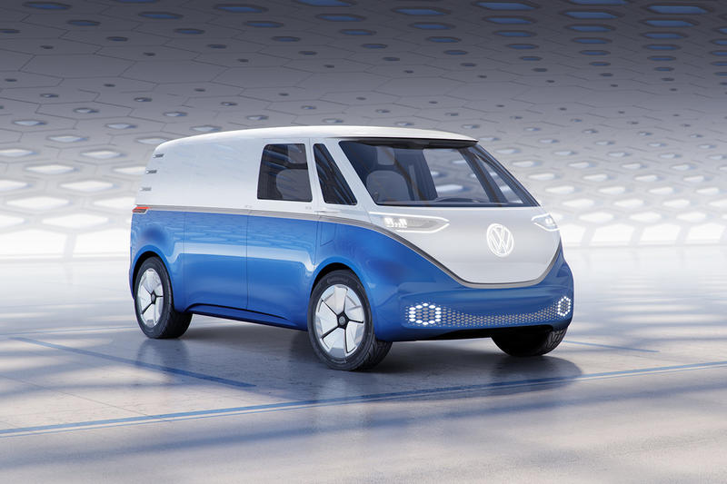 Volkswagen I.D. Buzz cargo microbus announcement electric cars vehicles