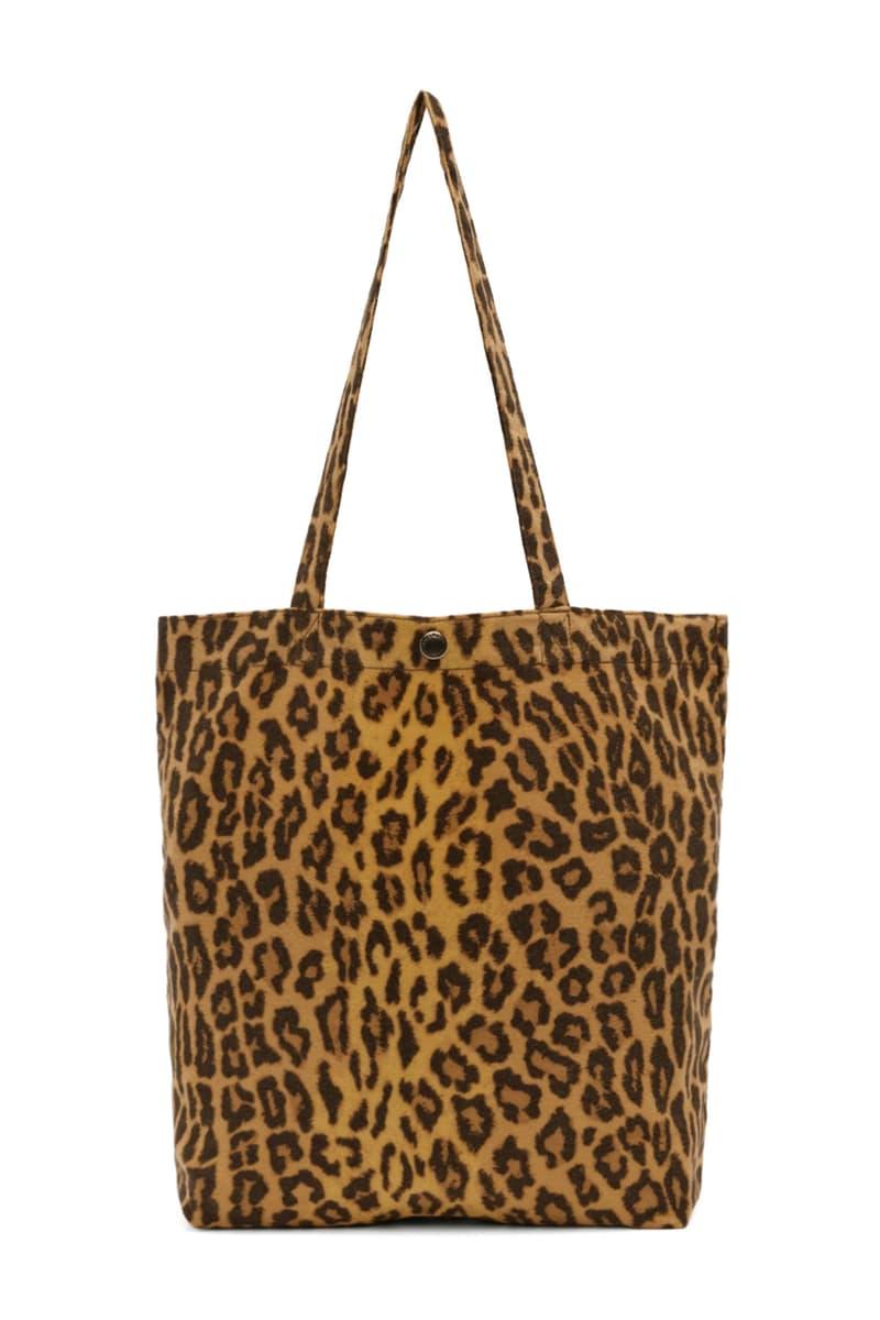 WACKO MARIA Leopard Print Tote Bag accessories release info SSENSE exclusive
