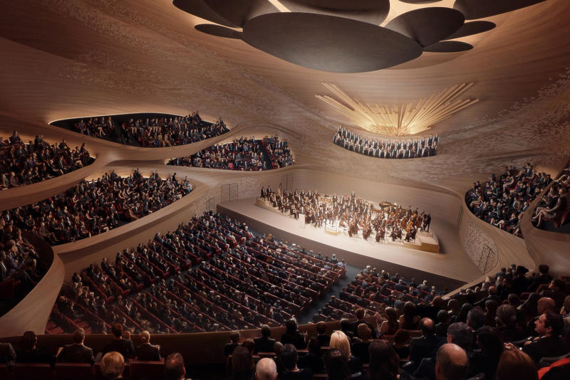 Zaha Hadid Architects Sverdlovsk Philharmonic Concert Hall architecture design buildings Russia Music Symphony Sound Waves Patrik Schumacher concert hall