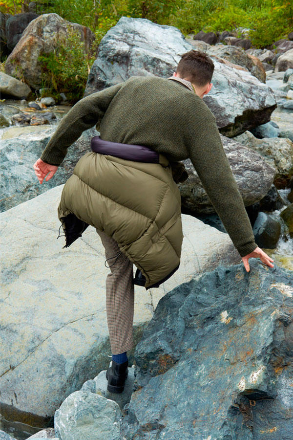 417 by Edifice FW18 Lookbook outwear jackets coats japan style lookbooks edifice sherpa down puffy