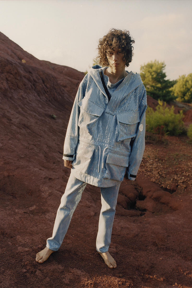 off white denim resort spring summer 2019 collection lookbook editorial campaign imagery photograph jeans jacket pants anorak parka