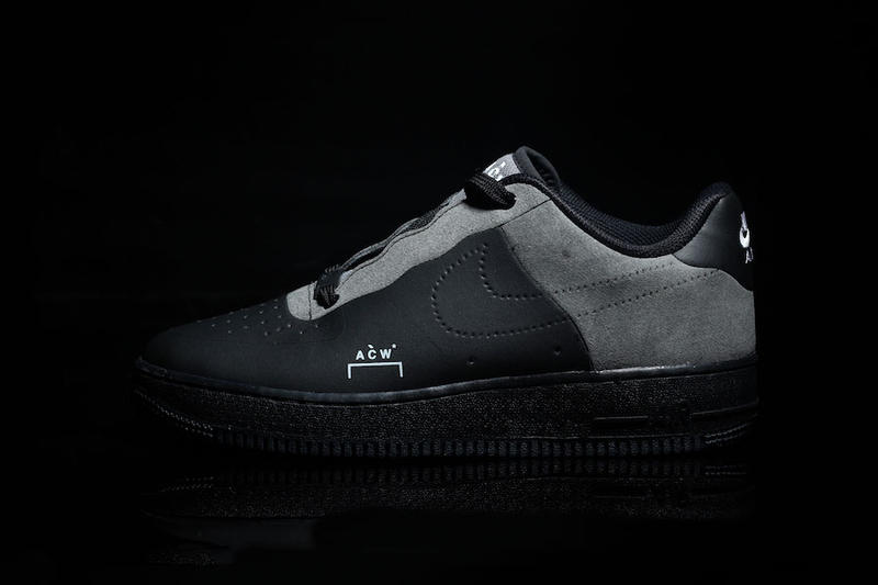 894803993b A COLD WALL Nike Air Force 1 Low Black Colorway Grey Leather Suede Samuel  Ross White