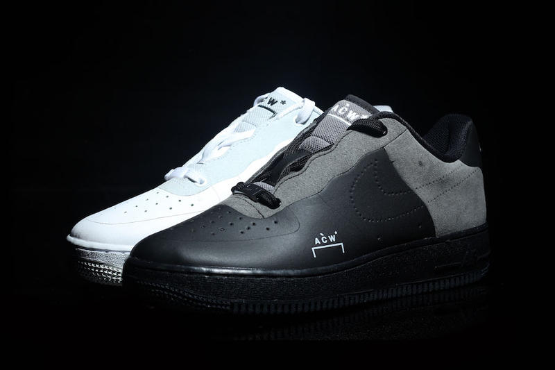 A COLD WALL Nike Air Force 1 Low Black Colorway Grey Leather Suede Samuel Ross White December 2018 Dark Light Another Look