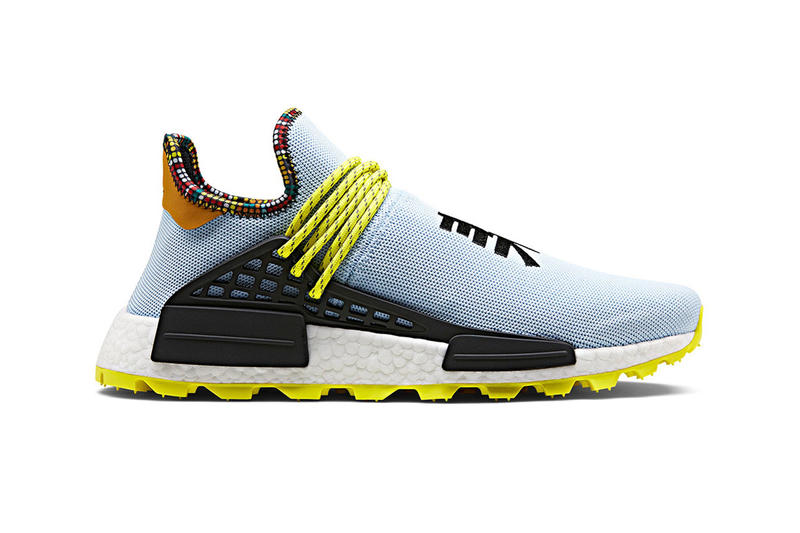 "1c711cde Pharrell x adidas NMD Hu ""Inspiration Pack"" StockX white black powder blue  Clear sky"