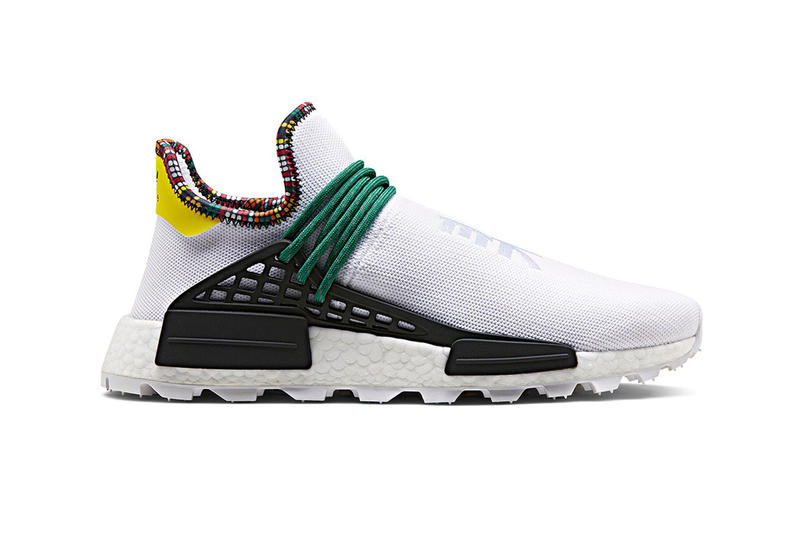 "164381e0 Pharrell x adidas NMD Hu ""Inspiration Pack"" StockX white black powder blue  Clear sky"