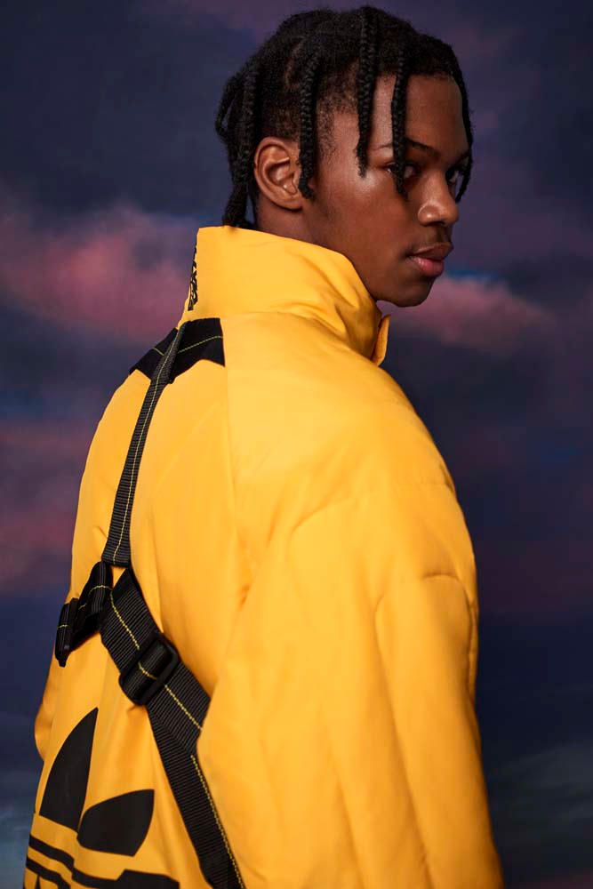 adidas Originals Olivia Oblanc Collaboration yellow black tees t shirts lookbook fall winter 2018 white hoodies outerwear pants jackets blue red buy details info purchase