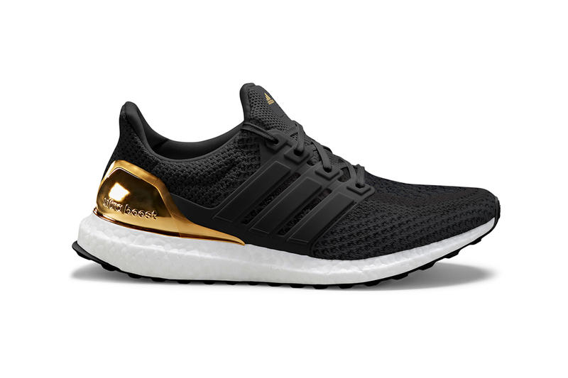 adidas UltraBOOST Medal Pack, Foot Locker Unvaulted gold bronze silver shiny black white woven
