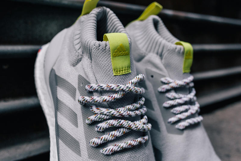 Finish Line x adidas In Pursuit Of Drop TJ Porter Jay Critch sports ultraboost mid sneakers nyc black grey gray red neon green yellow