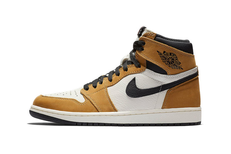 Air Jordan 1 Retro High OG Rookie Of The Year Now at StockX basketball peanut butter brown stats sports sneaker