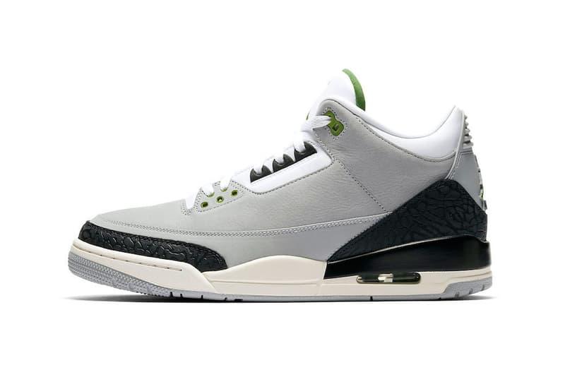 Air Jordan 3 Chlorophyll Buy Now StockX light smoke grey black white sail tinker hatfield 1987 nike trainer 1 MJ basketball sport jumpman