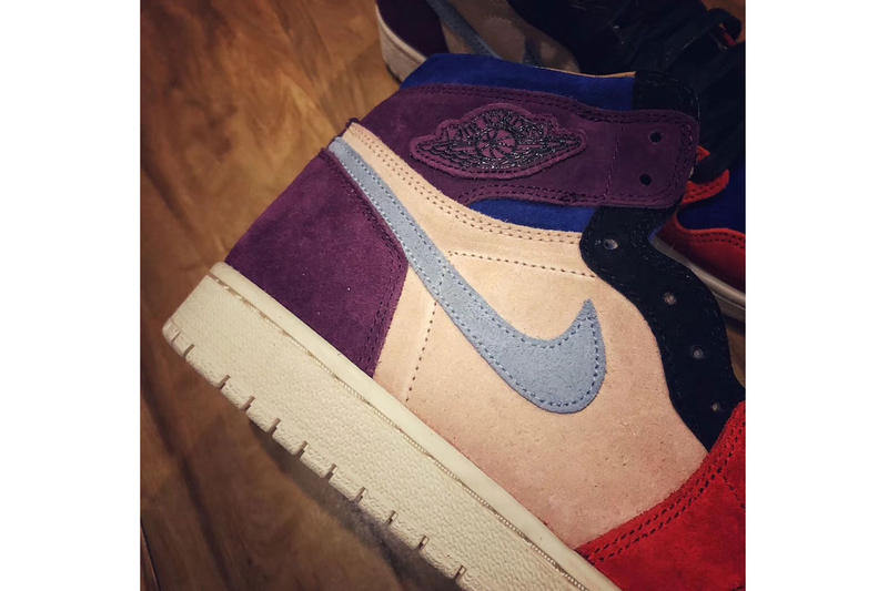 "Aleali May Air Jordan 1 viotech ""Bordeaux/Sunset Tint"" Release Date sneaker info price jordan brand Bordeaux/Sunset Tint-Rush Red-Light Armory Blue Style Code: BV2613-600 December 15 2018"
