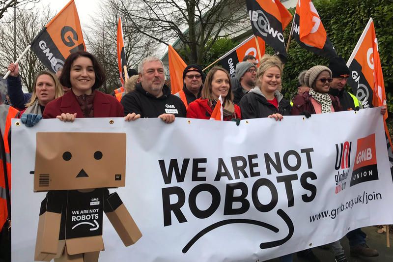 Amazon Europe Workers Strikes strike Black Friday Amazon Prime Day Jeff Bezos 2018 thanksgiving we are not robots gmb union germany spain uk united kingdom