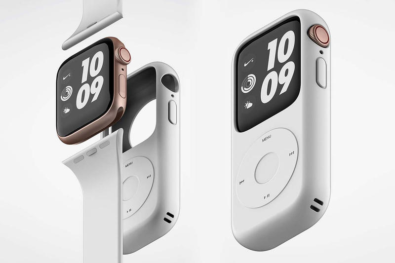 Apple Watch iPod Case Details Music Play Pause Back Next Rewind Fast Forward Menu Buttons