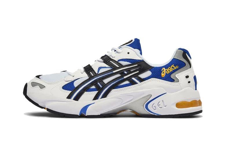 aa67b3a6e89c asics gel kayano 5 og release date white black blue yellow 2018 noevmber  footwear