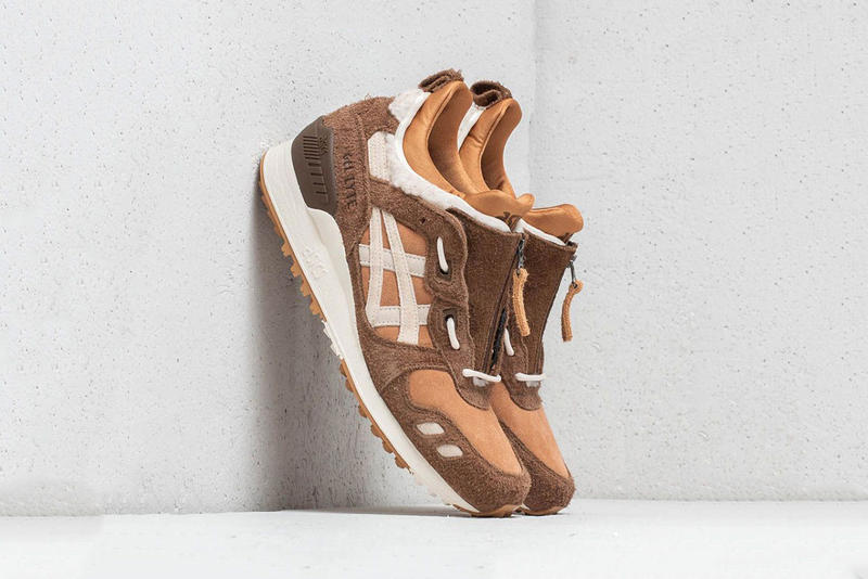 "ASICS Gel Lyte MT ""Caravan/Birch"" Sherpa Suede Release Date leather fleece sneaker price purchase colorway teddy bear"