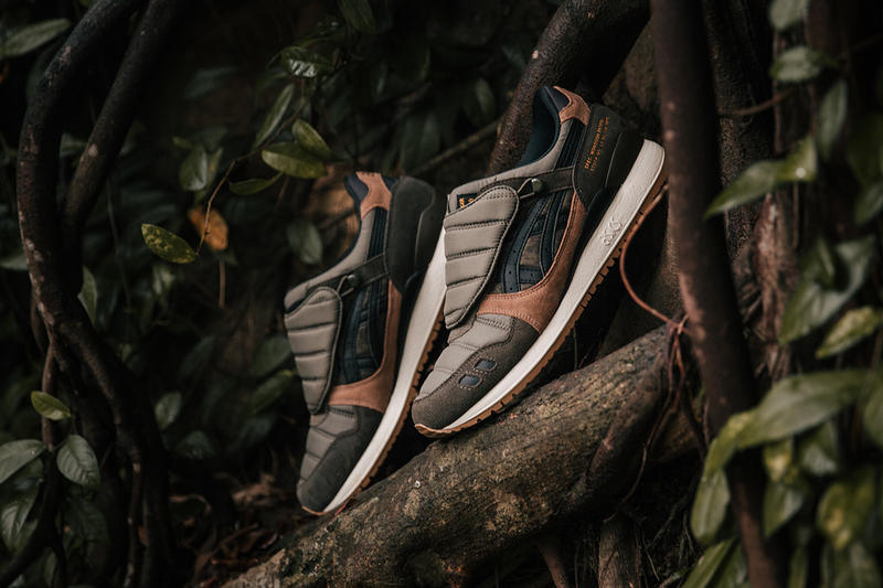 SBTG x Limited Edt x ASICS Gel Lyte III Monsoon Patrol Sneaker Details Shoes Trainers Kicks Sneakers Cop Purchase Buy Available Collab Collaboration