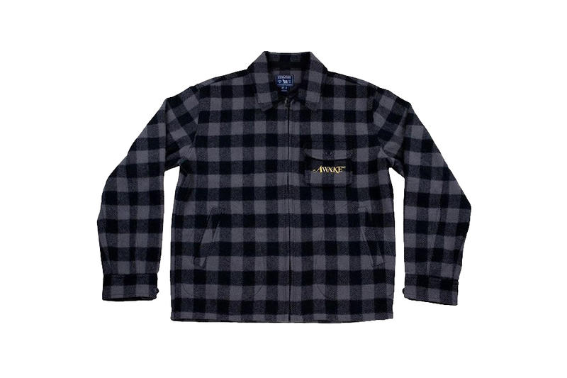 Awake x Woolrich woolen mills Timber Jacket Collaboration collection blue red black grey gray charcoal navy dover street market los angeles