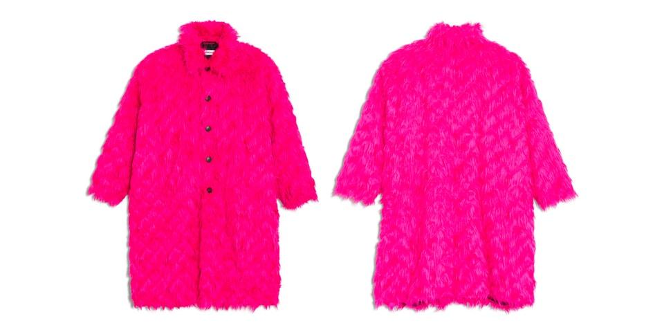 ea00be5717f74 Balenciaga Rose Bubble Gum Coat