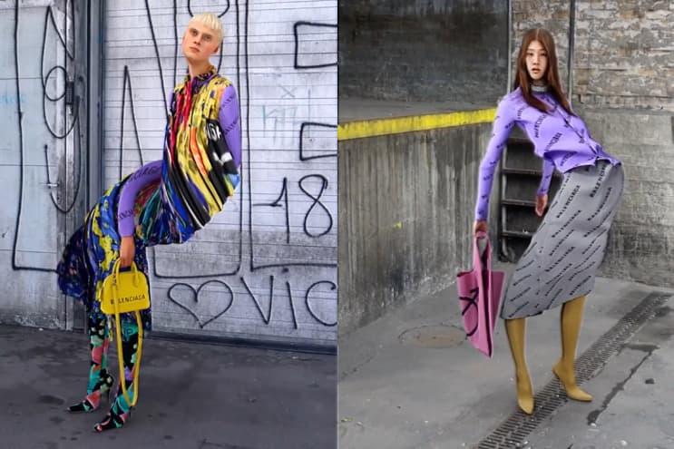 balenciaga spring summer collection yilmaz sen motion art videos lookbooks fashion style