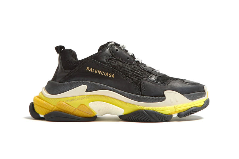 a14e9db7a8162 Balenciaga Triple S Low Top Trainers trainer First Look yellow mesh leather  black white off