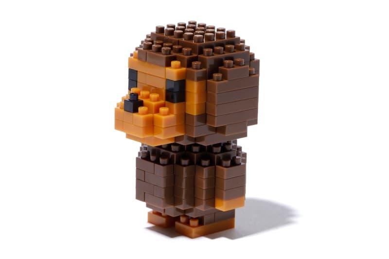 nanoblock x Baby Milo x BAPE Collection apparel t-shirts lego building blocks fall winter 2018 25 anniversary ape head