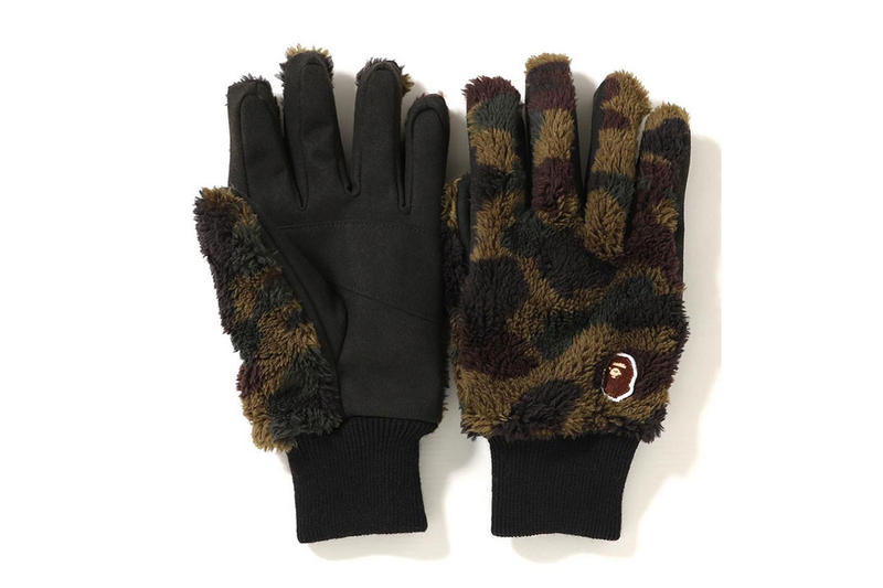 BAPE Extends Its FW18 Accessory Lineup fall winter porter gloves scarfs neck warmers boa hat