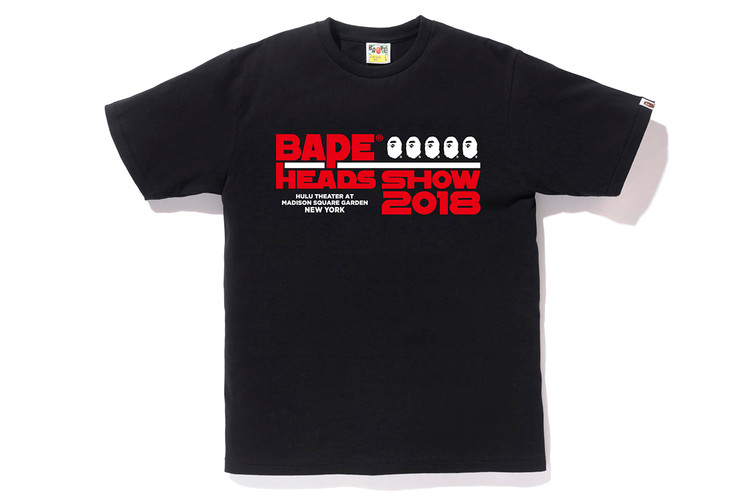 85ed86fdb07 BAPE Debuts Exclusive BAPE HEADS SHOW T-Shirt Designs