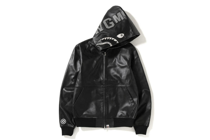 8c4cccb7666b BAPE Reinterprets Its Shark Hoodie in Luxe Leather. A winter must-have.