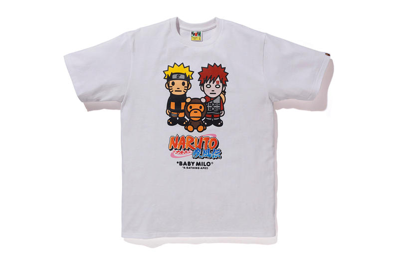 BAPE x Naruto & Boruto Collaboration Details Collab Fashion Clothing Collection Boruto: Naruto Next Generations Baby Milo Manga Anime Graphic Print buy cop release details
