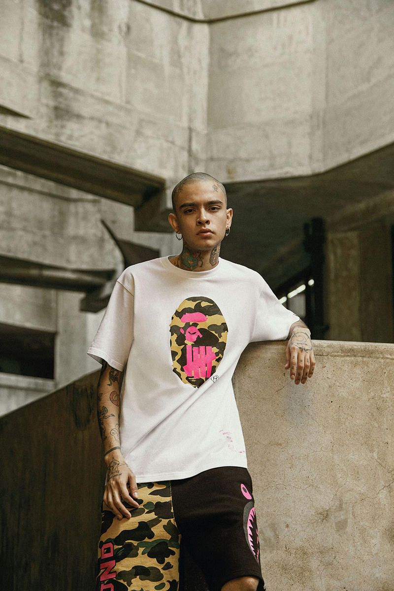 UNDEFEATED x BAPE 2018 Exclusive Collection Collab Collaborations Fashion Clothing Cop Purchase Buy Shanghai Store Launch