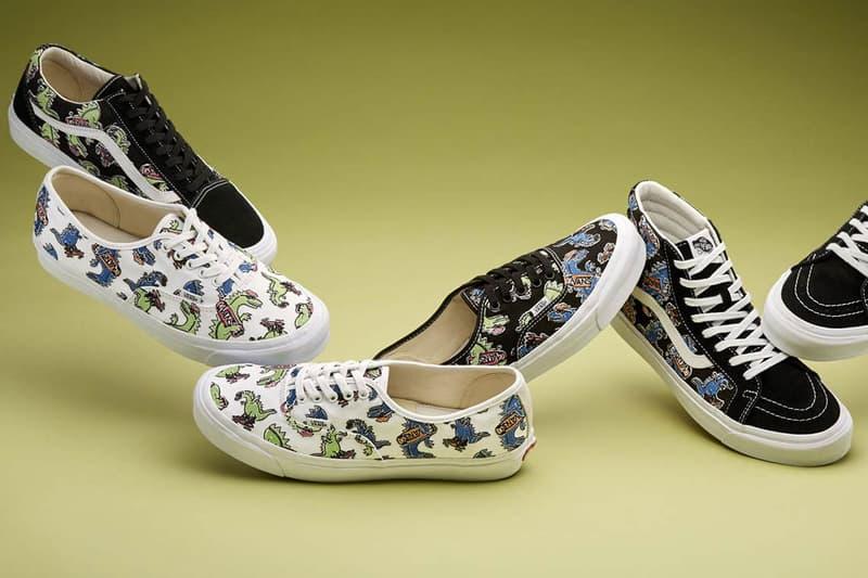 "Barneys x Vans ""Vanosaur"" Collection Release date Vans Sk8-Hi Vans Slip-On Authentic Pattern Kids News Details Closer First Look"