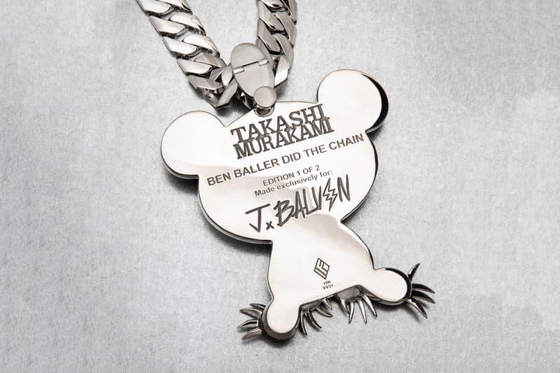 Ben Baller x Takashi Murakami J.Balvin Diamond Chain super flat japan art anime MR. painting sculptures music LA Luxury ice bling bling drip sparkle gold 18k flashy
