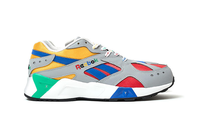 "BILLY's Reebok Aztrek ""Grey/Cobalt/Big Green"" exclusive colorway ""Nintendo 64"" Released Date pre order december 2018 blue green red yellow"