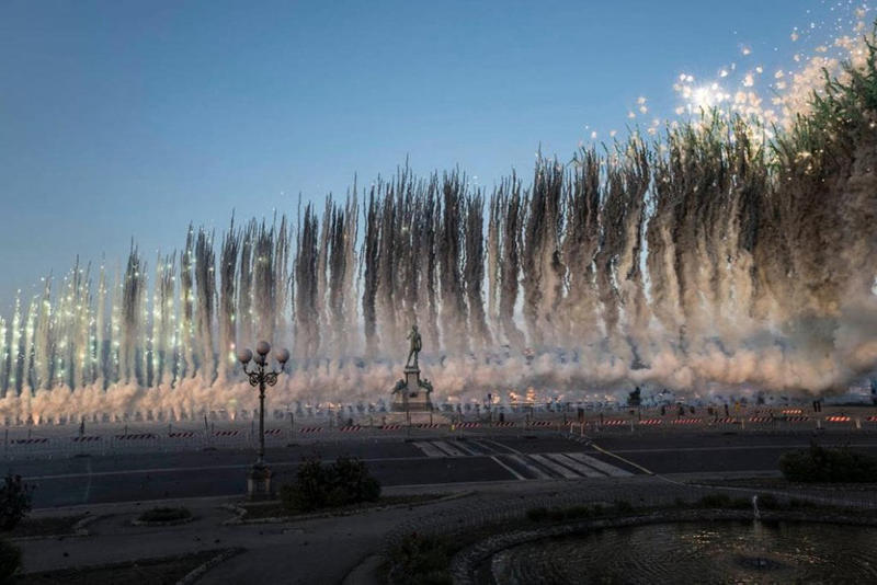 cai guo qiang florence fireworks flowers artworks installations