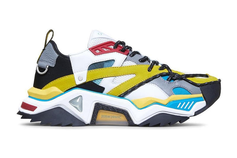 Calvin Klein 205W39NYC STRIKE 205 IN CALF LEATHER yellow multi color sneakers shoes november 2018 pre order buy price details info information