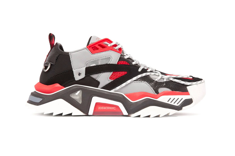 c90c4e514d04 CALVIN KLEIN 205W39NYC s Strike 205 Sneaker Surfaces in a Bold Red Colorway