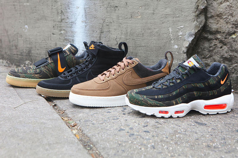 timeless design 6bfdf b30be Carhartt WIP Nike Collection Another Look Air Force 1 Utility Vandal High  Supreme Air Max 95