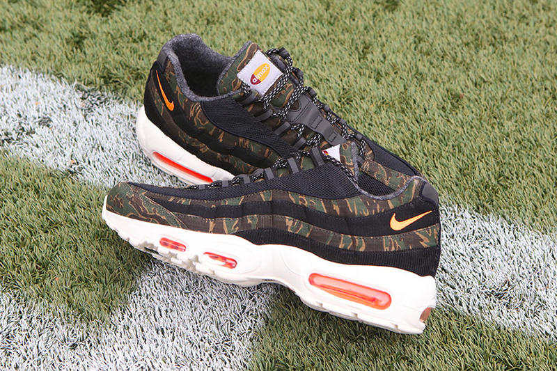 Carhartt WIP Nike Collection Another Look Air Force 1 Utility Vandal High Supreme Air Max 95 black camo brown