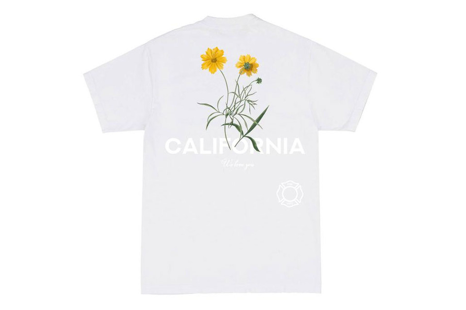 Cherry Los Angeles California Fire Benefit Tee Hypebeast